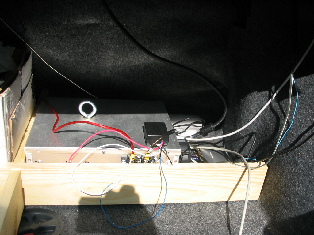 Carputer in Trunk
